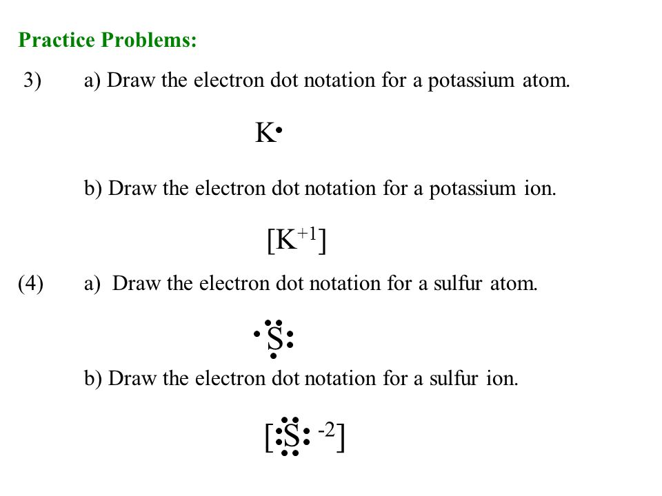 Ch notes ionic bonding ionic compounds ppt download s s 2 k k1 practice problems ccuart Image collections
